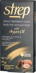 Strep Body Hair Removal Strips with Argan Oil 20τμχ