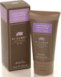 St James Of London Lavender & Geranium Shaving Cream 75ml