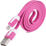 OEM Flat USB to Lightning Cable Pink 1m (CX-350)