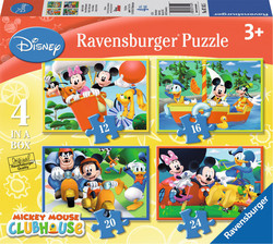 Mickey Mouse Clubhouse 4 in a Box 12, 16, 20 & 24pcs (07142) Ravensburger
