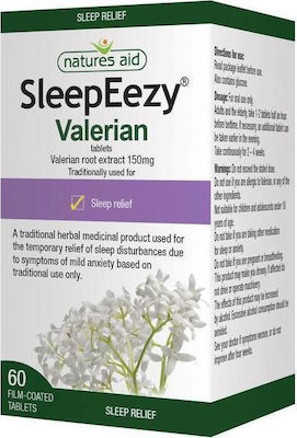 Natures Aid SleepEezy Valerian 150mg 60 ταμπλέτες