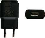 LG USB Wall Adapter Μαύρο (MCS-02ED)