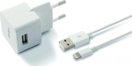 Ksix Apple Lightning Cable & Wall Adapter Λευκό (B0914CD02)