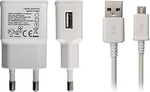 OEM Power Energy micro USB Cable & Wall Adapter Λευκό (KGMASAM0447)