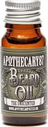 Apothecary87 The Unscented Beard Oil 10ml