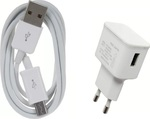 OEM micro USB Cable & Wall Adapter Λευκό (14257)