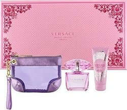 Versace Bright Crystal Absolu Eau de Parfum 90ml & Body Lotion 100ml & Hand Bag