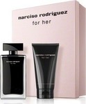 Narciso Rodriguez For Her Eau de Toilette 50ml & Body Lotion 75ml