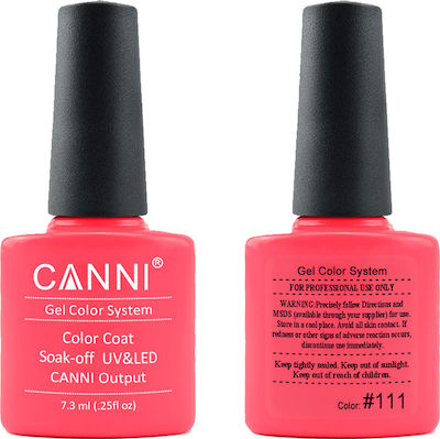 Canni Nail Art Color Coat 111 Electric Coral