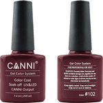 Canni Nail Art Color Coat 102 Deep Reddish Brown