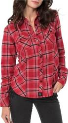 METAL MULISHA NIGHTMARE FLANNEL BURGUNDY