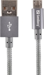 Sandberg Excellence Braided USB 2.0 to micro USB Cable Γκρί 1m (480-03)