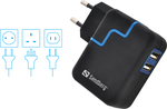 Sandberg 2x USB Wall Adapter Μαύρο (480-05)