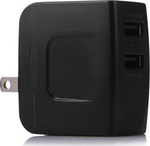 Remax Universal 2x USB Wall Adapter Μαύρο (RMT6188)