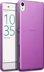 Terrapin Silicone Back Cover Transparent - Purple (Xperia XA)
