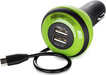 Boompods Carpod In-car 3-Device Lightning Charger 4Ah Green
