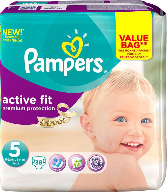 Pampers Premium Protection Active Fit No 5 11 23kg 38