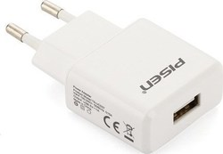 Pisen USB Wall Adapter Λευκό (USB 1.0A Charger)