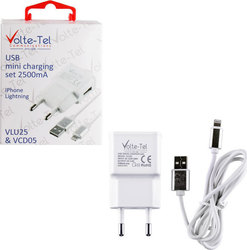 Volte-Tel USB Wall Adapter & Cable for Apple Λευκό (VCD05+VLU25)