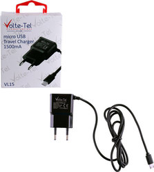 Volte-Tel micro USB Wall Charger Μαύρο (VL15)