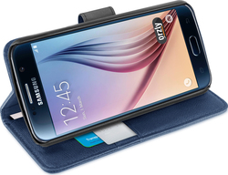 Orzly Multifunctional Wallet Case for Blue (Galaxy S6)