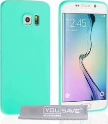 YouSave Accessories Ultra Thin Gel Case Light Blue (Galaxy S6 Edge)