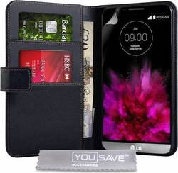 YouSave Accessories Leather-effect Wallet Case Black (G4)