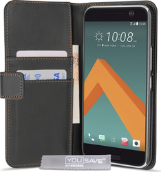 YouSave Accessories Leather-effect Wallet Case Black (HTC 10)