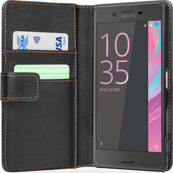 YouSave Accessories Leather-Effect Wallet Case Black (Xperia X)