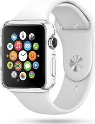 YouSave Accessories Silicon Transparent Case for Apple Watch 38mm