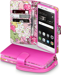 Terrapin Floral Wallet Pink with Lily Interior (P9 Lite)
