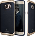 Caseology Envoy Series Leather Navy Blue/Gold (Galaxy S7 Edge)
