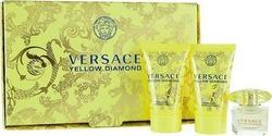 Versace Yellow Diamond Eau de Toilette 5ml & Body Lotion 25ml & Shower Gel 25ml