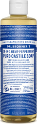 Dr. Bronner's Peppermint Pure-Castile Liquid Soap 473ml