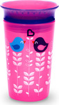 Munchkin Miracle 360° Deco Trainer Cup Pink Bird 12m+, 266ml