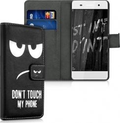 KW Flip Wallet Dont Touch My Phone Black (Xperia XA)