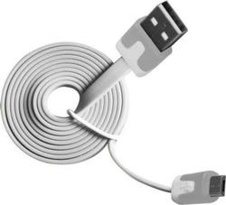 Vakoss Flat USB 2.0 to micro USB Cable Λευκό 1m (TC-U517NW)