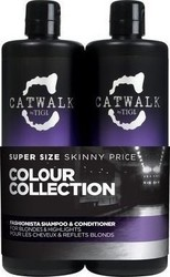 Tigi Catwalk Fashionista Color Collection for Blondes & Highlights Shampoo 750ml & Conditioner 750ml