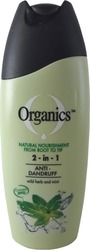 Organics Anti-Dandruff 2 in 1 Shampoo 200ml
