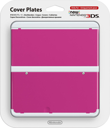 Nintendo Cover Plate 019 Pink New 3DS