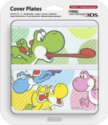 Nintendo Cover Plate 028 Bunte Yoshis New 3DS