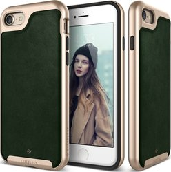 Caseology Envoy Series Leather Green - Gold (iPhone 8/7)