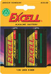 Excell Alkaline Battery D (2τμχ)