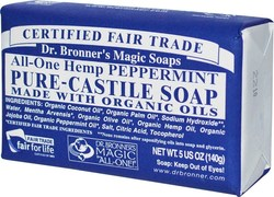 Dr. Bronner's Pure-Castile Bar Soap All-One Hemp Peppermint 140gr