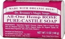 Dr. Bronner's Pure-Castile Bar Soap All-One Hemp Rose 140gr