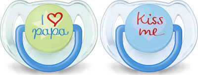 Philips Classic Pacifiers 6-18m Σιλικόνης Γαλάζιο-Πράσινο 2τμχ