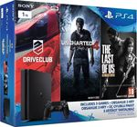Sony Playstation 4 (PS4) Slim 1TB & Driveclub & Uncharted 4 A Thief`s End & The Last of US Remastered