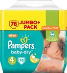 Pampers Baby Dry Magical Pods Jumbo Pack No 4 (8-16Kg) 78τμχ