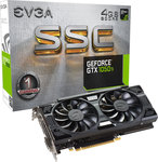 EVGA GeForce GTX1050 Ti 4GB SSC Gaming ACX 3.0 (04G-P4-6255-KR)