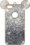 OEM 3D Mouse Ears Strass Silver (iPhone 5/5s/SE)
